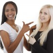 Portrait of friends - African-American and Caucasian — Stock Photo #26014497