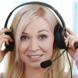 Female callcenter agent — Stock Photo