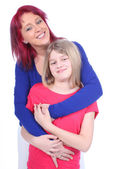 Mother embraces her daughter — Stock Photo