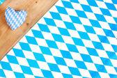 Blue white bavarian heart — Stock Photo