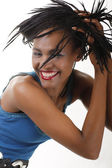 Attractive black woman — Stock Photo
