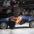 Stock Photo: Bugatti blue with orange interior