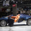 Foto Stock: Bugatti blue with orange interior