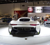 Jaguar Sport car back view — Stock Photo