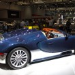 Bugatti blue with orange interior side view — Stock Photo