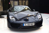 Porsche 918 Spyder front view — Stock Photo