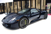 Porsche 918 Spyder side view — Stock Photo