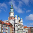 Stock Photo: Houses and Town Hall in Old Market Square, Poznan, Poland