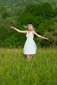 Donna felice libera — Foto Stock