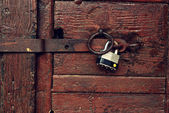 Locked door — Stock Photo
