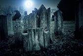 Cemetery night — Stock Photo