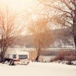 Winter caravan — Stock Photo