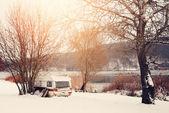 Winter caravan — Zdjęcie stockowe