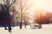 Winter caravan — Stockfoto