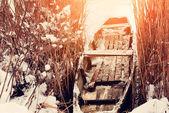 Barco cubierto de nieve — Foto de Stock