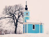 Winter chapel — Stock Photo