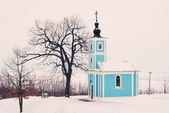 Winter Chapel — Stockfoto