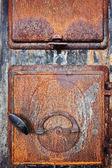 Old stove door — Stock Photo