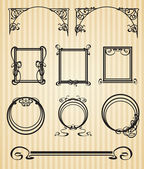 Decorative items and scope in modern style — Vector de stock