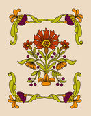 Vector art nouveau decorative flowers — Stock Vector