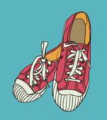 矢量彩色的图案运动鞋 — 图库矢量图片