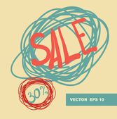 Thirty percent discount background — Stock Vector