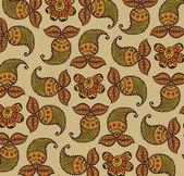 Vector floral design henna decoration, pattern, wallpaper. — Stock Vector