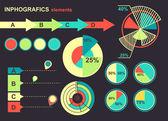 Vector set of infographics element — Stock Vector