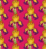 Wektor dekoracyjne wzory kwiatów irys — Wektor stockowy