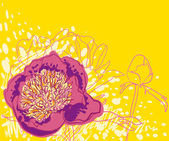 Vector decorative image peony flowers — Stock Vector