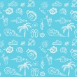 Summer best trip vector background — Imagen vectorial