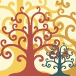 Vector art tree - Stock Vector