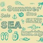 Set of summer theme elements. — Stock Vector #25929105