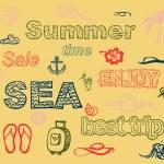 Set of summer theme elements. — Stock Vector #25929107