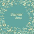 Summer time vector card — Stock Vector #25929159
