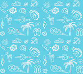 Summer travel vector background — Vecteur