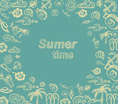Summer time vector card — Stock Vector