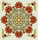 アール ヌーボー様式の装飾的な花をベクターします。 — ストックベクタ