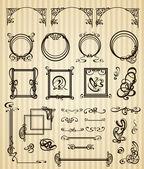 Artigos decorativos e escopo em estilo moderno — Vetor de Stock