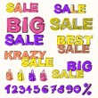 Big sale vector background — Stock Vector