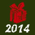 vettoriale illustrazione di Natale. regalo — Vettoriale Stock