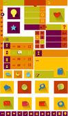Icon set for web design — Stock Vector