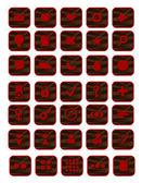 コンピューターのアイコンのセット — ストックベクタ