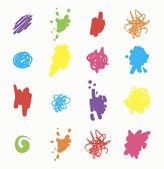 Colorful Blots, Splashes Set — Stock Vector