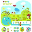 Vector illustration of ecologically friendly production methods — Stock Vector