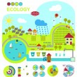 Vector illustration of ecologically friendly production methods — Stock Vector #31450623