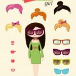 Hipster girl — Stock Vector