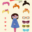 Hipster girl — Stock Vector #31773563