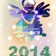Stock Vector: Vector Christmas angel and New Year hand-painted decoration