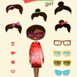 Hipster girl fashion set — Stock Vector #32813897